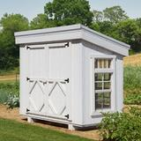 Little Cottage Company Petite 5 ft. W x 2.5 Ft. D Greenhouse Wood/Glass in Brown, Size 51.0 H x 61.0 W in | Wayfair 58-LCPG-WPNK