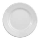 "Homer Laughlin 20310000 7 1/8"" Round Plate - China, Arctic White"