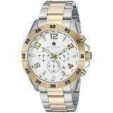 Charles-Hubert, Paris Men's 3977-T Premium Collection Analog Display Japanese Quartz Two Tone Watch