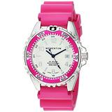 Women's Quartz Watch | M1 Splash by Momentum| Stainless Steel Watches for Women | Dive Watch with Japanese Movement & Analog Display | Water Resistant ladies watch with Date –Lume / Magenta Rubber