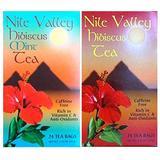 Nile Valley Hibiscus Tea and Mint Hibiscus Tea (24 Tea Bags, 1.24 Oz. Ea.)