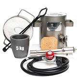 USA Cast Master 5KG SS Propane Furnace DELUXE 2700F 1500C Jewelry Kit INCLUDES, CRUCIBLE, TONGS Kiln Smelting Forge Precious Metals Gold Silver Copper Scrap Metal Recycle