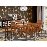 9 Pc Dining room set Dining Table with Leaf and 8 Dining Chairs