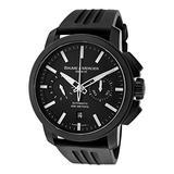 Baume & Mercier Men's Classima Automatic Chronograph Black Dial Black Rubber