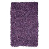 Pelle Leather Shag Rug, 4 by 6-Feet, Purple