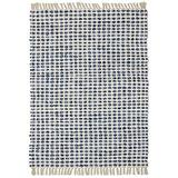 "Complex Blue Hand Woven Rug (21""x34"") Rug"