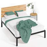 Zinus Paul Metal and Wood Platform Bed with Wood Slat Support, King,HBPBA-14K,Black