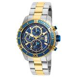 Invicta Men's Pro Diver Scuba 45mm Steel and Gold Tone Stainless Steel Chronograph Quartz Watch, Two Tone (Model: 22415)