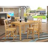 5 Pc counter height pub set - high Table and 4 bar stools.