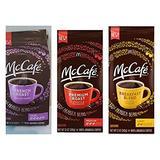 McDonalds McCafe Ground Coffee Variety Bundle, 12 oz (Pack of 3) includes 1-Bag Premium Roast, Medium + 1-Bag Breakfast Blend, Light + 1-Bag French Roast, Dark by McDonald's