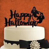 aMonogram Art Unlimited Happy Halloween Wood Cake Topper Wood in Black/Brown   Wayfair 94328P