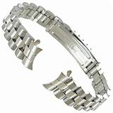 13mm Speidel Stainless Steel Silver Tone Watch Band Curved End 3114/00 BOGO
