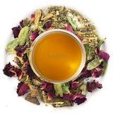 Nargis Ayurvedic Loose Leaf Cooling Tea/100% Natural Herbal Anti Oxidant Soothing Refresh Pitta Tea w/ Rose, Cinnamon, Cardamom, Ginger & Fennel/Indian Organic Flavor Relax Tea, 10.58 oz