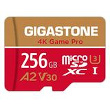 Gigastone 256GB Micro SD Card, 4K Game Pro, Nintendo-Switch Compatible, A2 Run App, 4K Video Recording, R/W up to 100/60MB/s, Micro SDXC UHS-I A2 V30 Class 10