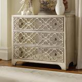 Hooker Furniture Sanctuary 3 Drawer Mirrored Accent ChestWood in Brown/Gray, Size 32.0 H x 36.0 W x 18.0 D in | Wayfair 3023-85001