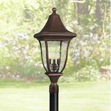 """Oakmont 29 1/4""""H Patina Bronze 3-Light Outdoor Post Light"""