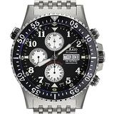 Xezo Mens Air Commando Pilot Swiss Automatic Valjoux 7750 Chronograph Wrist Dive Watch. 2nd Time Zone. Waterproof 300 meters