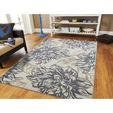 Century Home Goods Collection Luxury Floral Cream Gray Black Leaves 8 x 10 Area Rug Carpet Large Living Room Rug 8x11 Rugs for Living Room Clearance