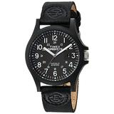 Timex Men's TW4B08100 Expedition Acadia Black Leather/Nylon Strap Watch