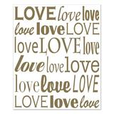 The Beistle Company Love Insta-Mural in White/Yellow, Size 6.0 H x 5.0 W in   Wayfair 53302