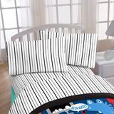Disney Just For Black Stripe 4 Piece Sheet Toddler Bedding Set Polyester in Red | Wayfair JF21556WFML