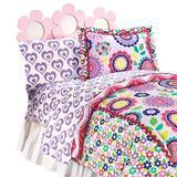 Disney Just For Heart 4 Piece Toddler Bedding Set Polyester in Green/Indigo/Pink | Wayfair JF21554WFML