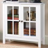 OS Home & Office Furniture 2 Door Accent Cabinet Wood in White, Size 31.0 H x 31.5 W x 11.75 D in | Wayfair 22600