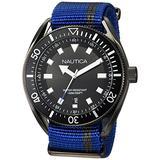 Nautica Men's Portofino Stainless Steel Japanese-Quartz Watch with Nylon Strap, Blue, 22 (Model: NAPPRF002)