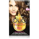 Garnier Olia Ammonia-Free Brilliant Color Oil-Rich Permanent Hair Color, 6.0 Light Brown (3 Count) Brown Hair Dye (Packaging May Vary)