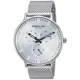 Kenneth Cole New York Men's Sport' Quartz Stainless Steel Dress Watch, Color:Silver-Toned (Model: KC14946013)
