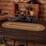 August Grove® Annabelle Striped Oval Table Runner Burlap in White, Size 13.0 D in   Wayfair AGGR2212 37633149