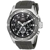 Invicta Men's Speedway 50mm Stainless Steel and Black Polyurethane Chronograph Quartz Watch, Black (Model: 20311)