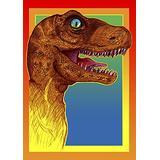 Toland Home Garden Rockin Dinosaur 28 x 40 Inch Decorative Colorful Pop Art Dino Tyrannosaurus Rex House Flag