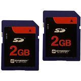 Olympus VH-410 Digital Camera Memory Card 2 x 2GB Standard Secure Digital (SD) Memory Card (1 Twin Pack)