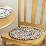 Langley Street® Cavallo Braided Chair Pad in Yellow, Size 0.5 H x 15.0 W x 15.0 D in | Wayfair CHRL1923 37605785