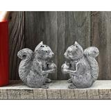 Arthur Court Designs Forest Squirrel 2 Piece Salt & Pepper Set Metal in Gray, Size 3.0 H x 1.75 W x 3.0 D in   Wayfair 116L16