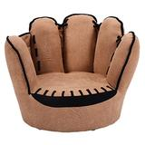 Costzon Children's Sofa, Baseball Glove Chair for Kids, Sturdy Wood Construction, Toddler Armchair Living Room Seat Children Furniture Upholstered TV Chair, Brown