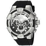 Invicta Men's Bolt 52mm Stainless Steel and Silicone Chronograph Quartz Watch, Black (Model: 24691)