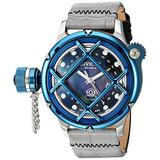 Invicta Men's 'Russian Diver' Swiss Quartz Stainless Steel and Two Tone Leather Casual Watch (Model: 18590)