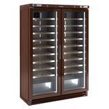 """Infrico IMD-EVV200MX 53 3/4"""" Two Section Wine Cooler w/ (2) Zone, 200 Bottle Capacity, 115v"""