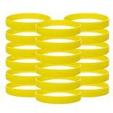 Vitalite 100pcs/set Plain Silicone Wristbands Blank Rubber Bracelets for Children Yellow