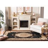 Astoria Grand Bedgood Oriental Handmade Tufted Wool Black/Beige Area Rug Wool in White, Size 60.0 H x 36.0 W x 0.63 D in | Wayfair