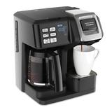 Hamilton Beach 12-Cup FlexBrew® 2-Way Coffee Maker in Black/Gray, Size 13.7 H x 11.4 W x 10.2 D in   Wayfair 49976