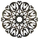 Ceiling Art Store Baptite Ceiling Medallions Wood in Brown, Size 48.0 H x 48.0 W x 0.75 D in   Wayfair BAPTITE-48-AB