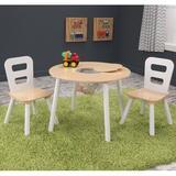 KidKraft 3 Piece Round Table & Chair Set Wood in White, Size 17.25 H x 23.45 W in | Wayfair 27027