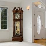 "Howard Miller® Edinburg 90.75"" Grandfather Clock Wood in Brown, Size 90.75 H x 27.75 W x 17.0 D in | Wayfair 611142"