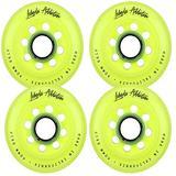 Labeda Addiction Inline Roller Hockey Skate Wheels Set of 4 (Yellow, 76mm)