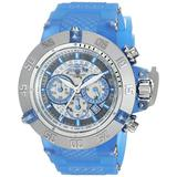 Invicta Men's Subaqua Stainless Steel Quartz Watch with Silicone Strap, Blue, 1.1 (Model: 24365)