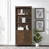 Darby Home Co Nicolette Standard Bookcase Wood in Brown, Size 72.0 H x 30.0 W x 13.0 D in   Wayfair DABY1028 38279600