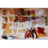 CHENGYIDA Deluxe Jewelry Making Kit- This adult, teen, and girl making kit includes pliers, findings, and a variety of pink beading supplies.BEADS CAP/FINDINGS/PLIERS Fit Jewelry Accessories DIY